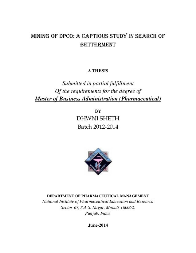Search Masters Thesis