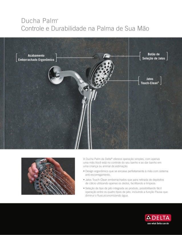 Ducha Palm - Controle e Durabilidade na Palma de Sua Mão