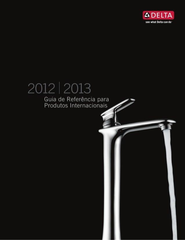 Delta Faucet - guia de Referência 2012 e 2013