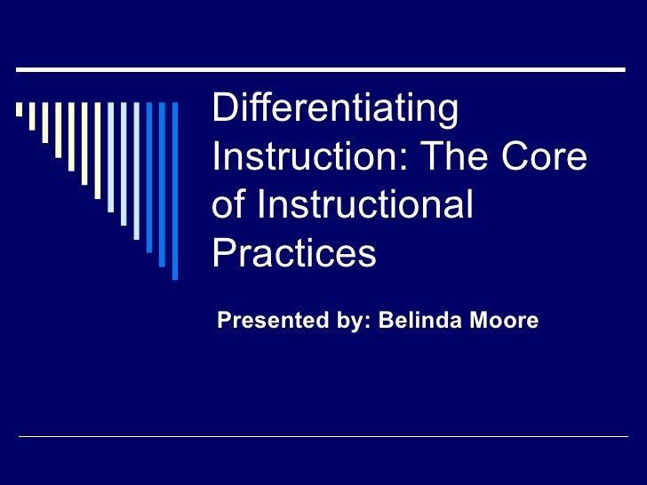 Di   differentiated instruction