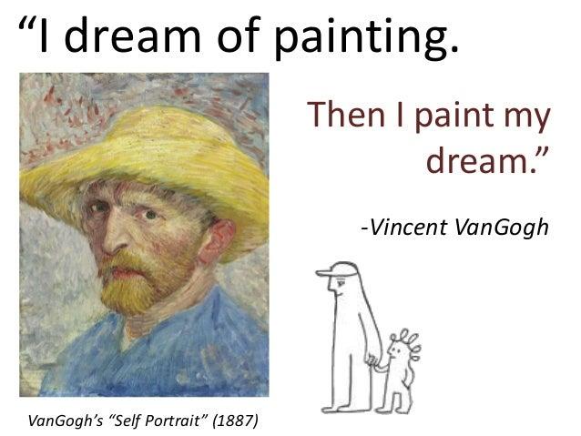 """I dream of painting. Then I paint my dream."" VanGogh's ""Self Portrait"" (1887) -Vincent VanGogh"