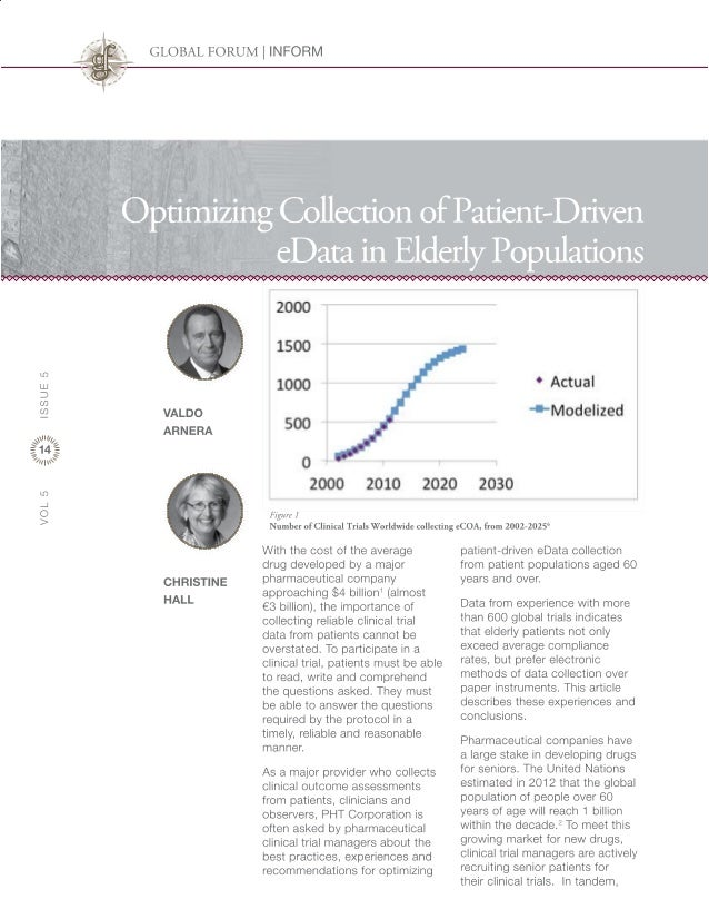 Optimizing Collection of Patient-Driven eData in Elderly Populations
