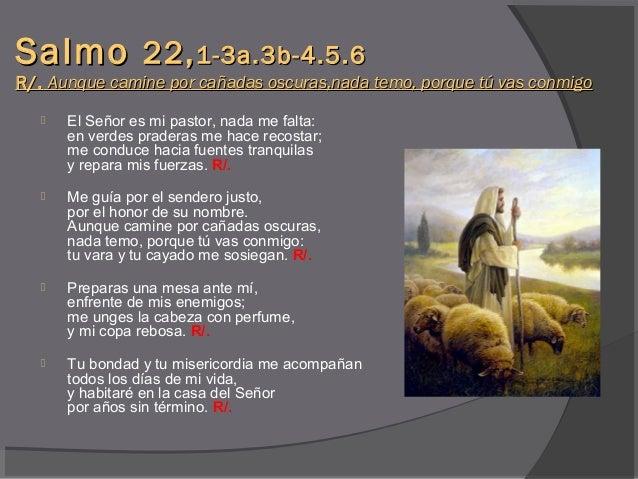 Resultado de imagen para Aunque camine por cañadas oscuras, nada temo, porque tú vas conmigo  V/. El Señor es mi pastor, nada me falta