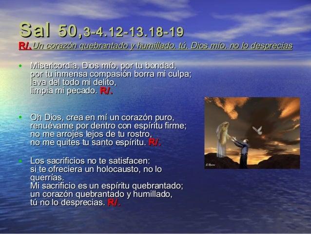 Resultado de imagen para Sal 50,3-4.12-13.18-19