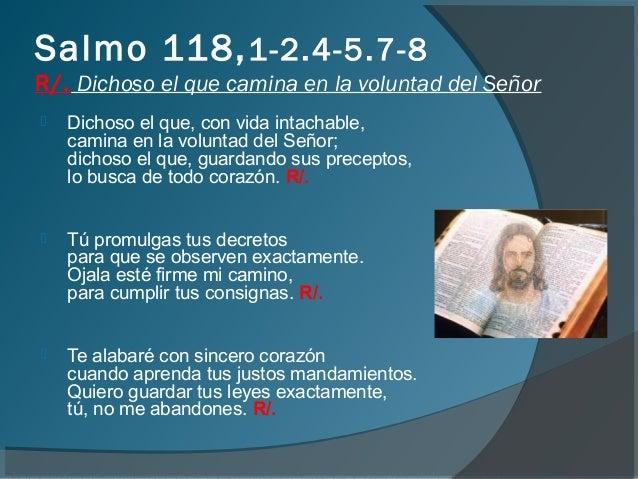 Resultado de imagen para Dichoso el que camina en la voluntad del Señor  Dichoso el que, con vida intachable
