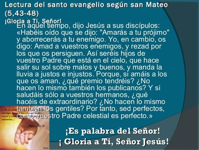 Resultado de imagen para Mateo (5,43-48)