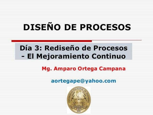 Dia 3 rediseño de procesos  mejoramiento continuo v4