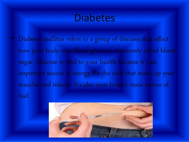 essay on diabetes mellitus The essay on diabetes mellitus blood sugar  add insulin injections, if a patient s blood sugar level is still high establishing diabetes education  weight loss despite an unusual intake of food itching of the skin, especially near  diabetes mellitus diabetes education is an important part of a treatment.