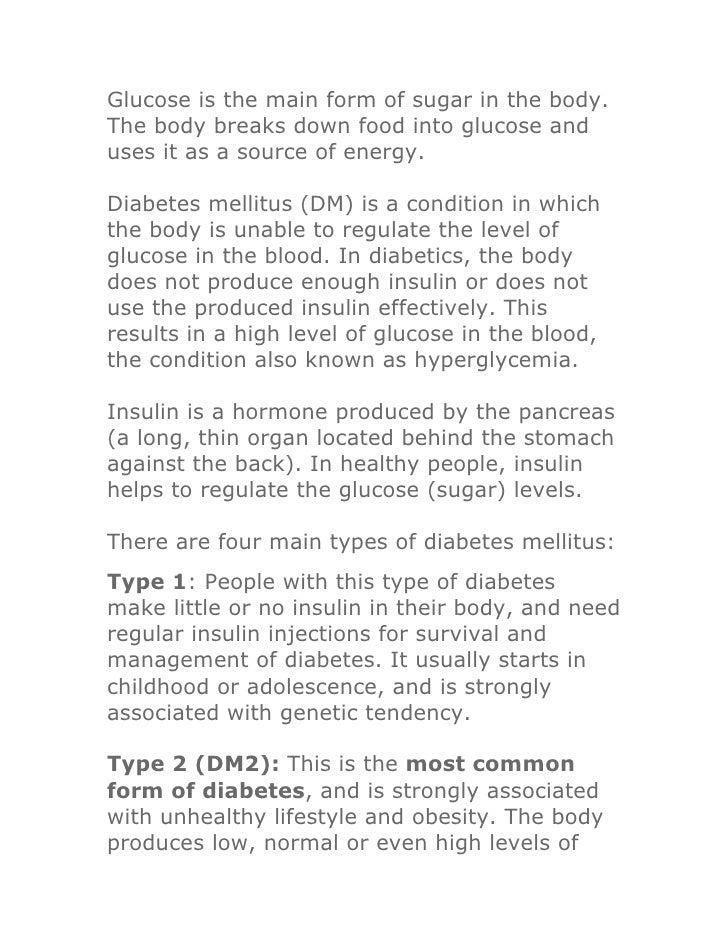 Diabetes - ayurvedic treatment
