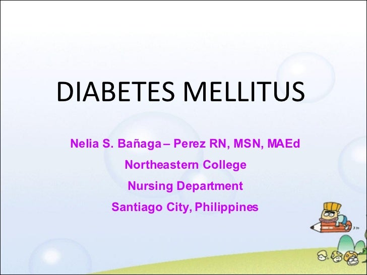 Nursing Management for Diabetes Mellitus
