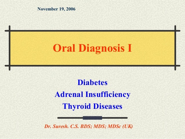 Diabetes, adrenal insufficiency, thyroid disease (2)