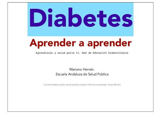 Diabetes, aprender a aprender. Educación para la Salud