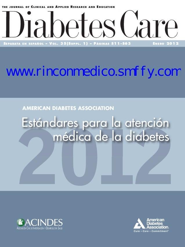 SEPARATA EN ESPAÑOL – VOL. 35(SUPPL. 1) – PÁGINAS S11-S63 ENERO 2012 ASOCIACIÓN CIVIL DE INVESTIGACIÓN Y DESARROLLO EN SAL...