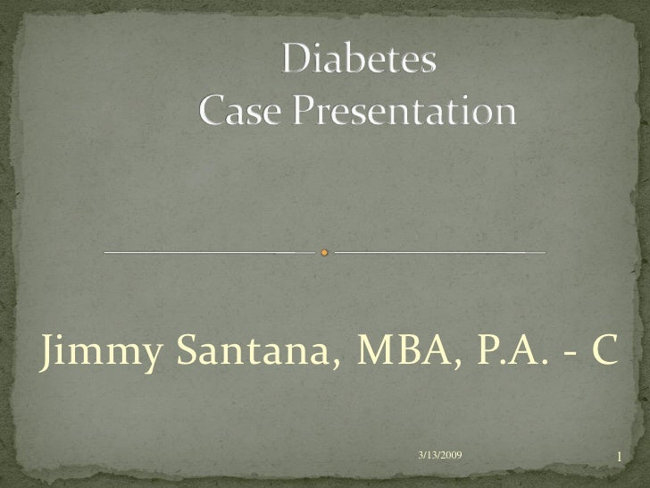 diabetes case study powerpoint presentation