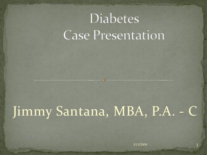 Case study 3 diabetes mellitus type 1