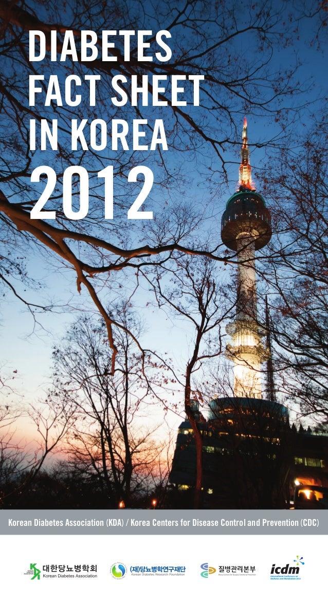 DIABETES FACT SHEET IN KOREA  2012  Korean Diabetes Association (KDA) / Korea Centers for Disease Control and Prevention (...