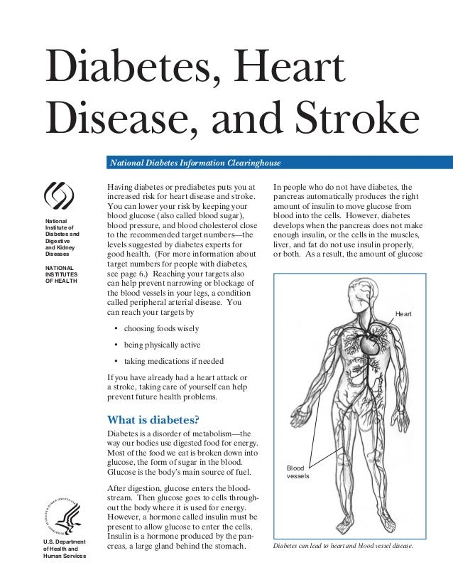 Diabetes, Heart Disease, and Stroke National Diabetes Information Clearinghouse  National Institute of Diabetes and Digest...