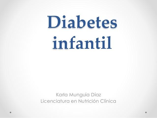 Diabetes infantil kmd
