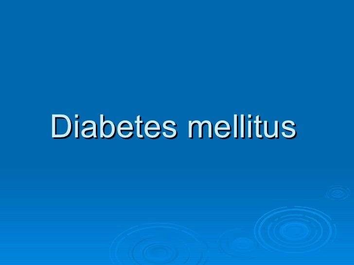 diabetes mellitus project final