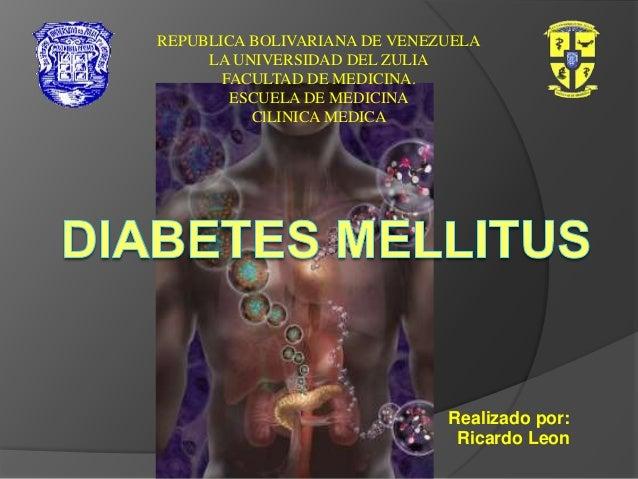REPUBLICA BOLIVARIANA DE VENEZUELA LA UNIVERSIDAD DEL ZULIA FACULTAD DE MEDICINA. ESCUELA DE MEDICINA ClLINICA MEDICA  Rea...