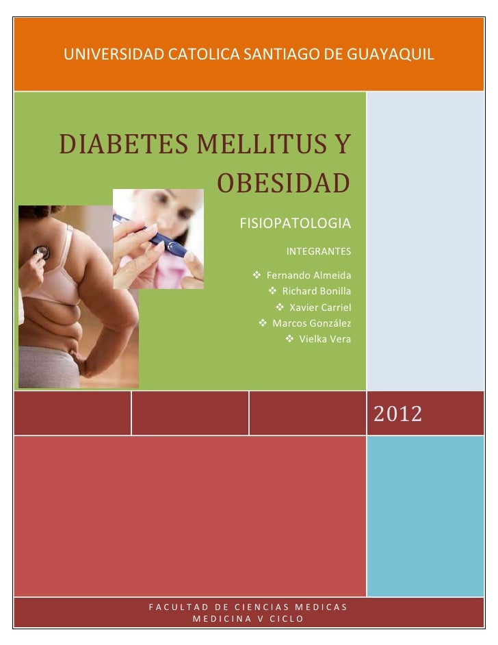 Diabetes mellitus y obesidad tutoria