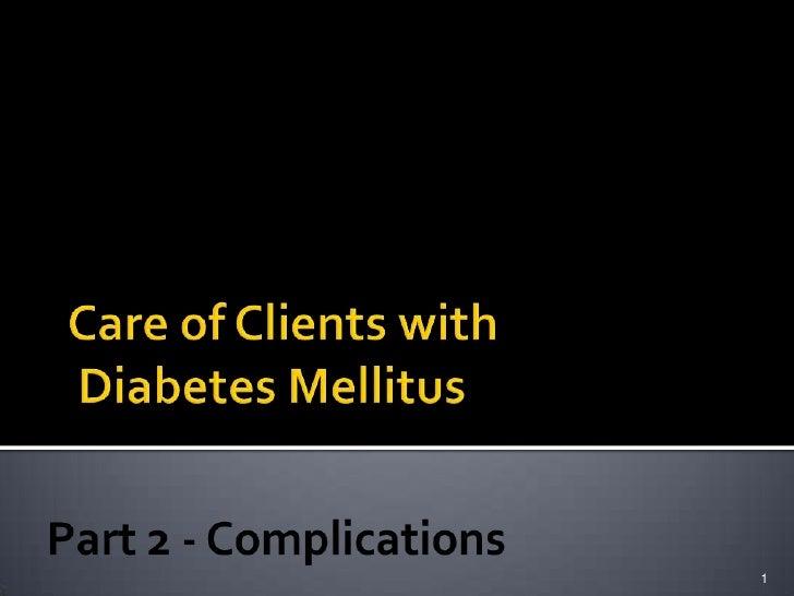 Diabetes Part 2