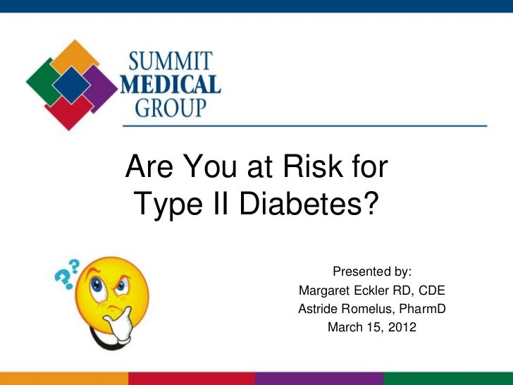 Are You At Risk for Type II Diabetes? (Test)