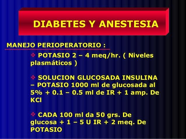 Diabetes y anestesia