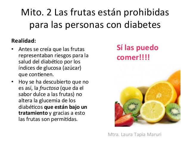 Diabetes y frutas
