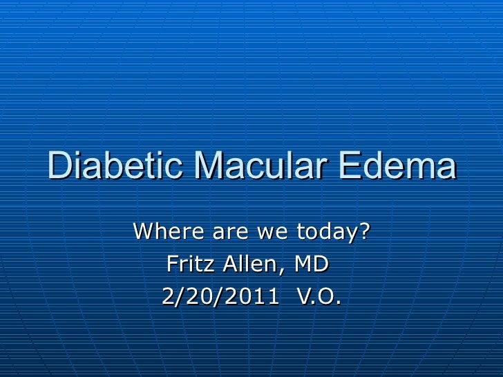 Diabetic macular edema 2011 (1)