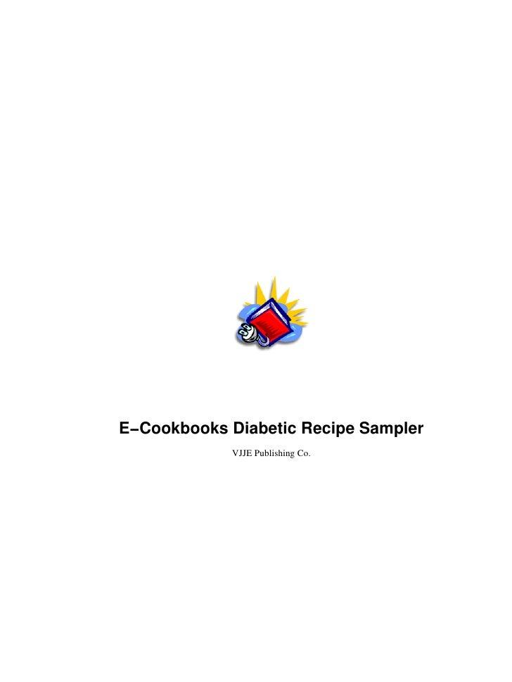 E−Cookbooks Diabetic Recipe Sampler            VJJE Publishing Co.