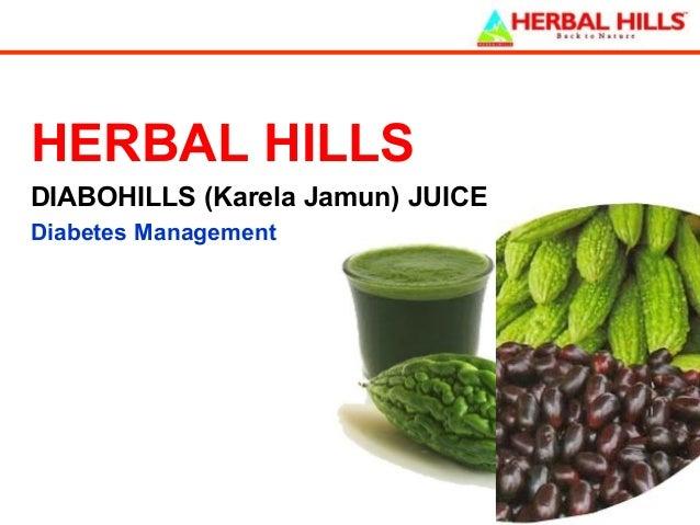 HERBAL HILLS DIABOHILLS (Karela Jamun) JUICE Diabetes Management