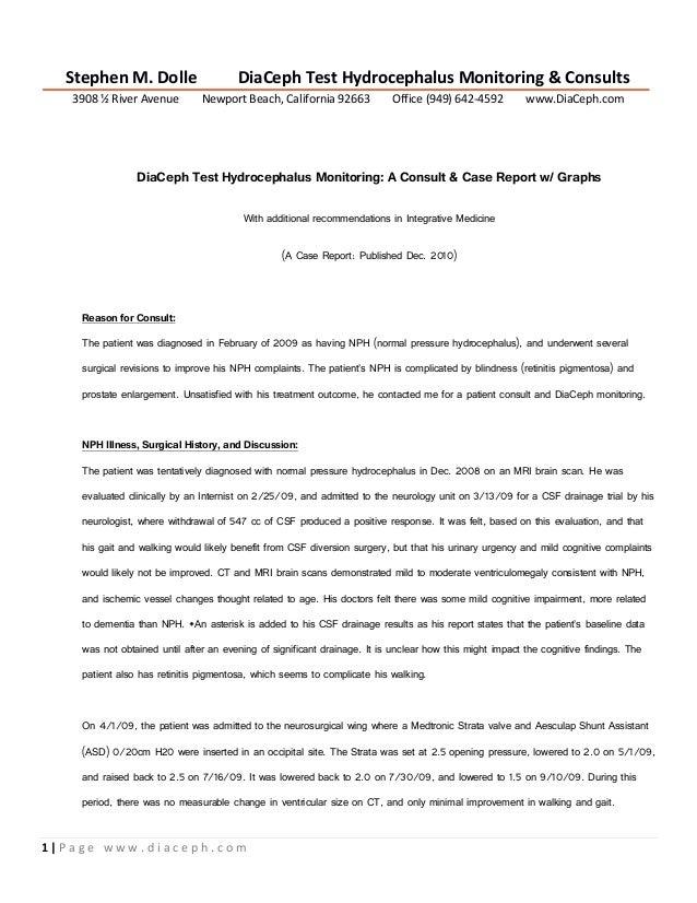 Diaceph hydrocephalus monitoring report.sample presentation