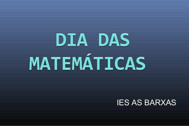 Dia das matematicas