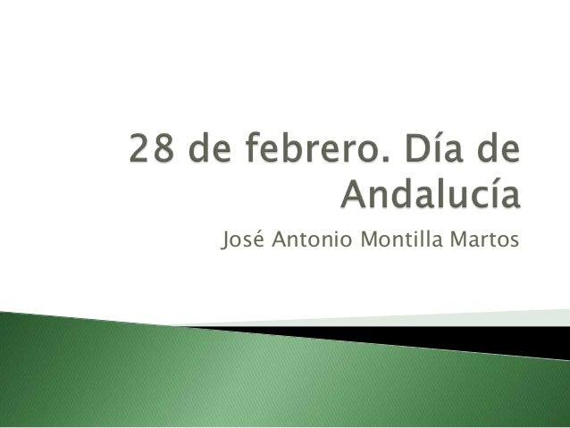 José Antonio Montilla Martos