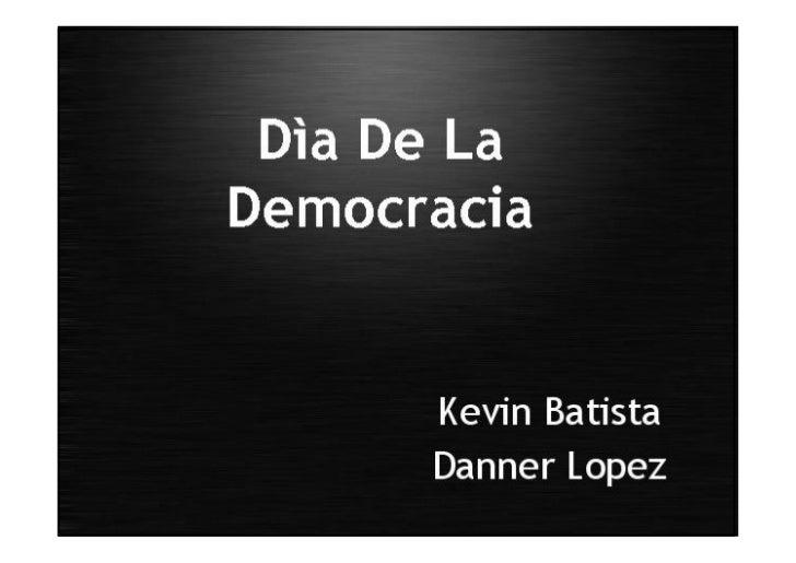 Dia de la Democracia