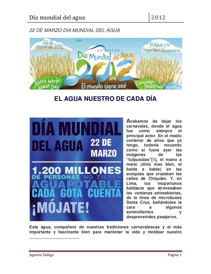 Díamundialdelagua                                                       201222 DE MARZO DIA MUNDIAL DEL AGUA         ...