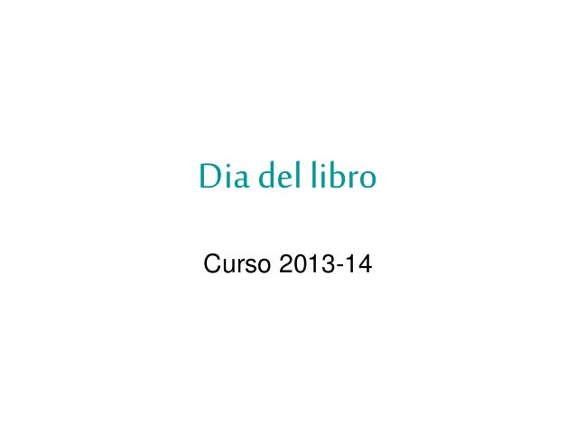 Dia del libro Curso 2013-14