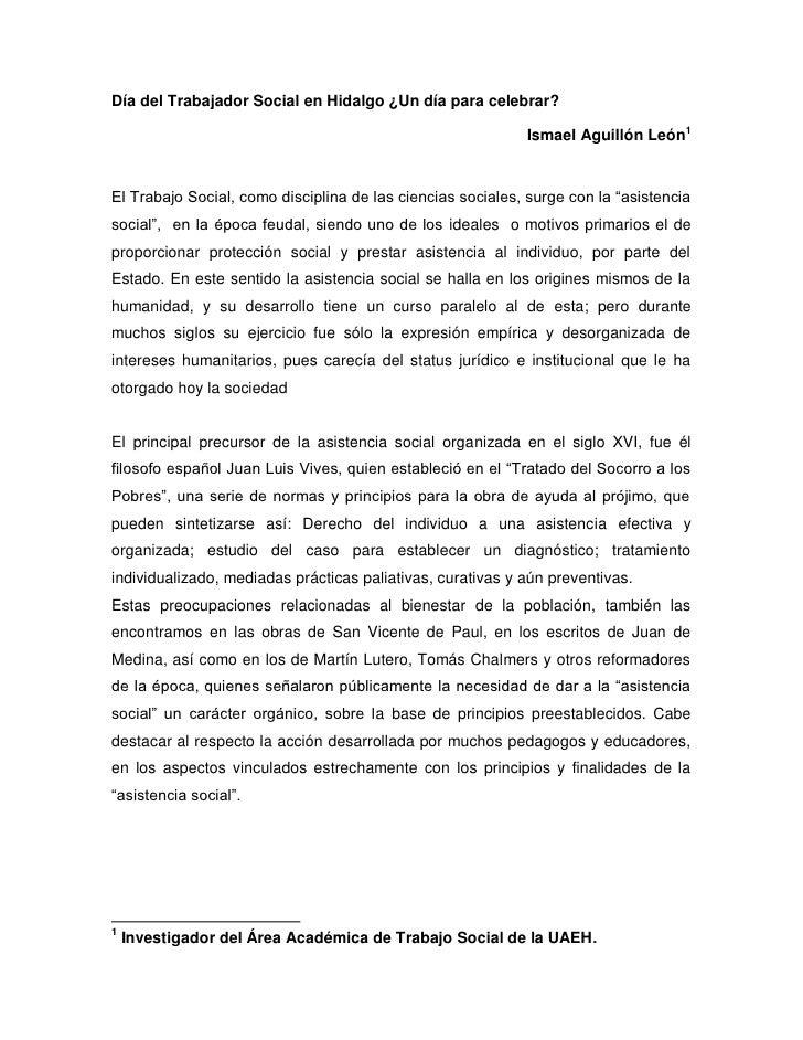 Día del Trabajador Social en Hidalgo ¿Un día para celebrar?                                                             Is...