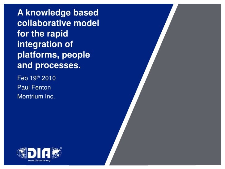 A knowledge based collaborative model for the rapid integration of platforms, people and processes.<br />Feb 19th 2010<br ...