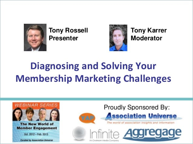 Diagnosing And Solving Membership Marketing Challenges - Tony Rossell-mgi