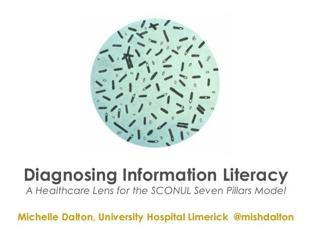 Diagnosing Information LiteracyA Healthcare Lens for the SCONUL Seven Pillars ModelMichelle Dalton, University Hospital Li...