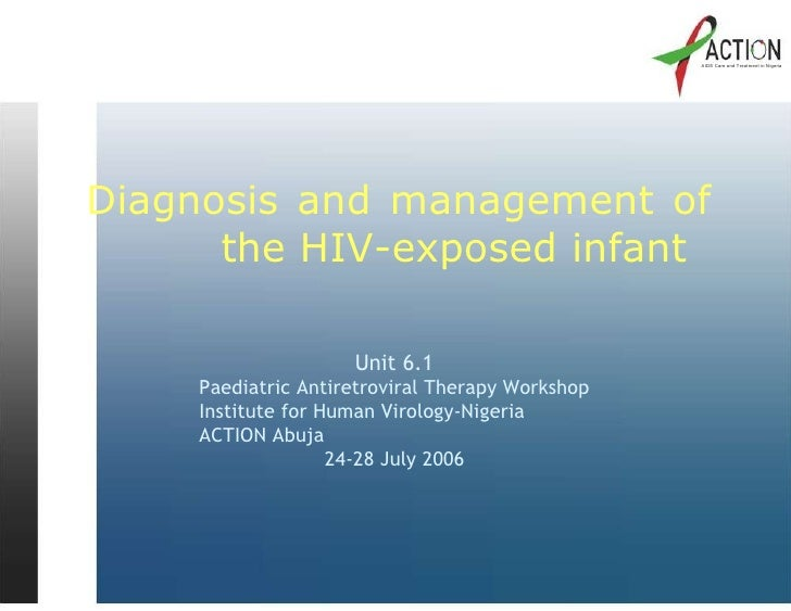 Diagnosis and management_of_hiv_exposed_infant