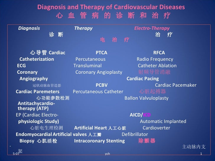 Diagnosis And Therapy Of Cardiovascular Diseases