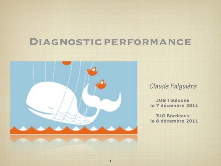 Diagnostic performances