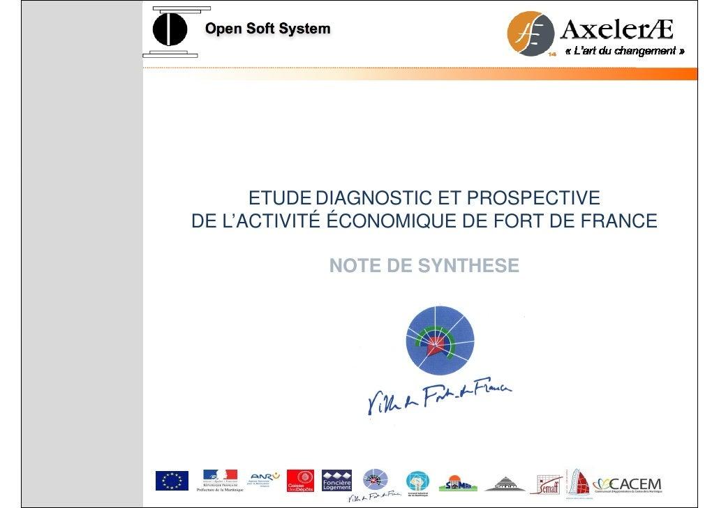Synthèse diagnostic  économique ville de Fort de France