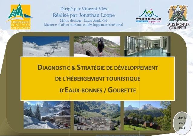 1 nn Dirigé par Vincent Vlès Réalisé par Jonathan Loope Maître de stage Master 2 : Loisirs tourisme et développement terri...