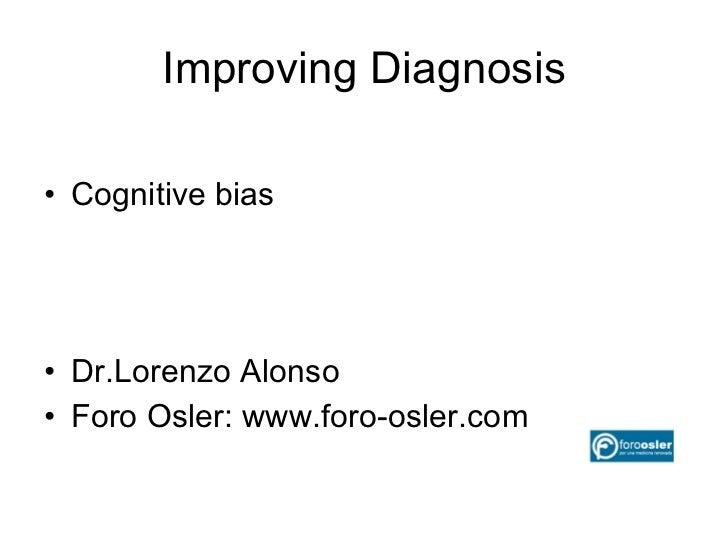 Diagnostic error in Medicine