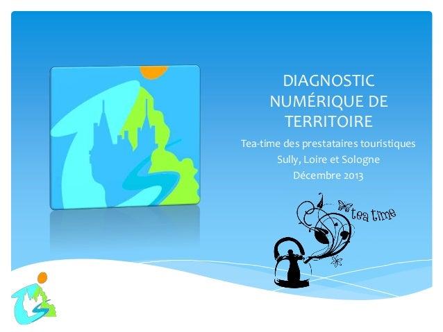 DIAGNOSTIC NUMÉRIQUE DE TERRITOIRE Tea-time des prestataires touristiques Sully, Loire et Sologne Décembre 2013