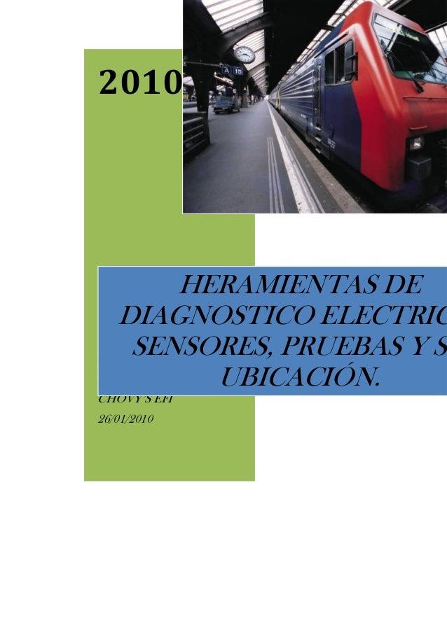 2010 Modificado por: Carlos O. Flores CHOVY'S EFI 26/01/2010 HERAMIENTAS DE DIAGNOSTICO ELECTRIC SENSORES, PRUEBAS Y SU UB...